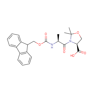 (4S)-3-[(2S)-2-[[(9H-fluoren-9-ylmethoxy)carbonyl]amino]-1-oxopropyl]-2,2-dimethyl-4-Oxazolidinecarboxylic acid,CAS No. 252554-78-2.