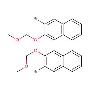 (1R)-3,3'-dibromo-2,2'-bis(methoxymethoxy)-1,1'-Binaphthalene,CAS No. 211734-49-5.