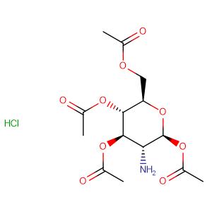 2-amino-2-deoxy-β-D-Glucopyranose 1,3,4,6-tetraacetate, hydrochloride (1:1),CAS No. 10034-20-5.