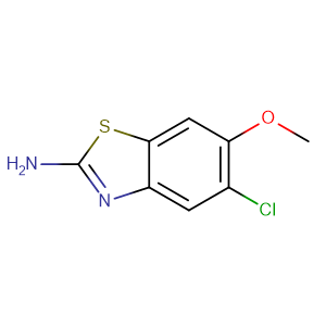5-chloro-6-methoxy-1,3-benzothiazol-2-amine,CAS No. 74821-70-8.