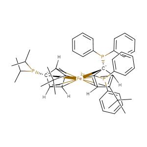 (6R,6'R)-6-[bis(propan-2-yl)phosphanyl]-3,4'-di-tert-butyl-2',6'-bis(diphenylphosphanyl)-1-ferra-1,1'-spirobi[pentacyclo[2.2.0.0¹,³.0¹,⁵.0²,⁶]hexane]-2,2',4,4'-tetraene-1,1-bis(ylium)-6,6'-diuide,CAS No. 1313012-94-0.