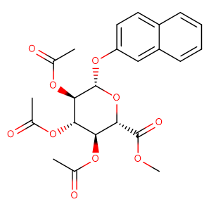 O2,O3,O4-triacetyl-O1-[2]naphthyl-beta-D-glucopyranuronic acid methyl ester,CAS No. 102848-86-2.
