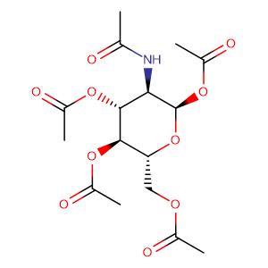 2-Acetamido-1,3,4,6-tetra-O-acetyl-2-deoxy-α-D-glucopyranose,CAS No. 7784-54-5.